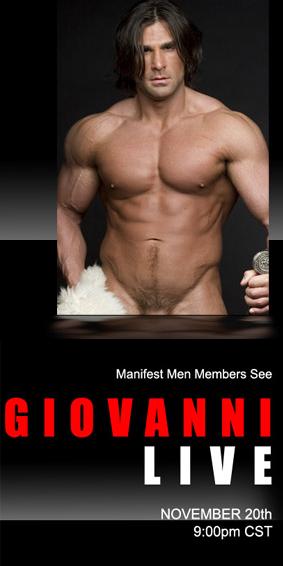 Liveshow-upcoming Giovanni Nov 20